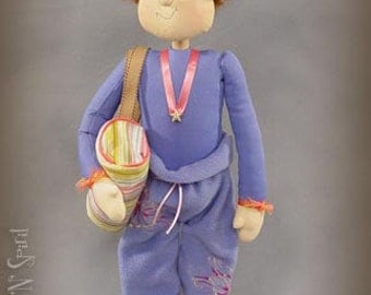 "Pattern: Savanna - 22"" Gymnist Doll Pattern by Sparkles N Spirit"