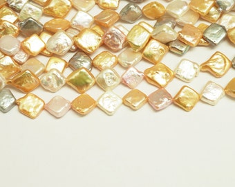 CULTURED  Freshwater Pearl Dia-Shape Beads-MIX COLORS