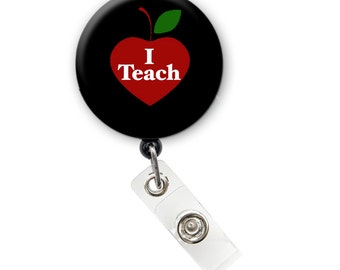 Teach Badge Holder, ID Badge Holder, Retractable Badge Reel 1.25 inch