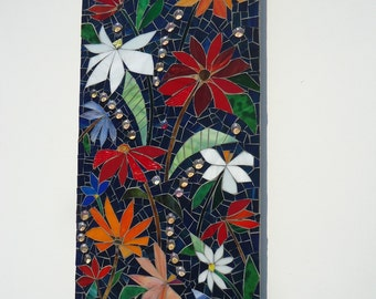 MOSAIC WALL ART  stained glass wall art panel decor indoor outdoor kitchen bath  patio art wall hanging