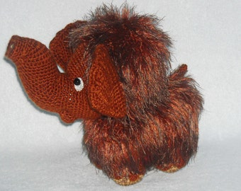 amigurumi mammoth, crochet mammoth, stuffed animal mammoth, crochet toy, gift
