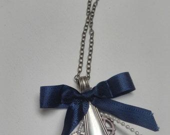 Something Borrowed, Something Blue Steampunk Necklace