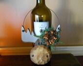 Wood Whimsical Moose Home Ornament
