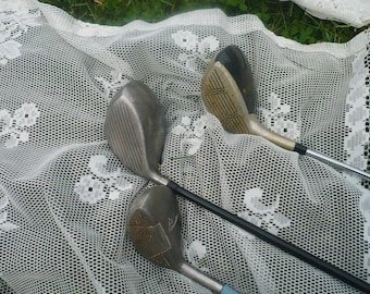 Three Vintage Golf Clubs  RH Clubs.