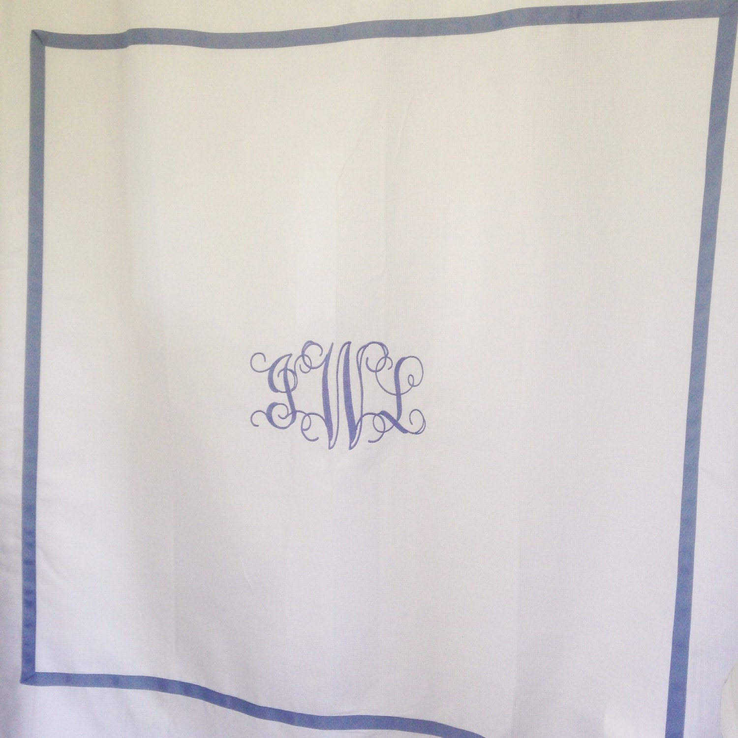 Monogram Shower Curtain Bath Curtain