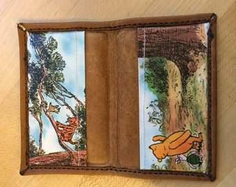 NEW Leather Folding Pooh Cardholder Wallet