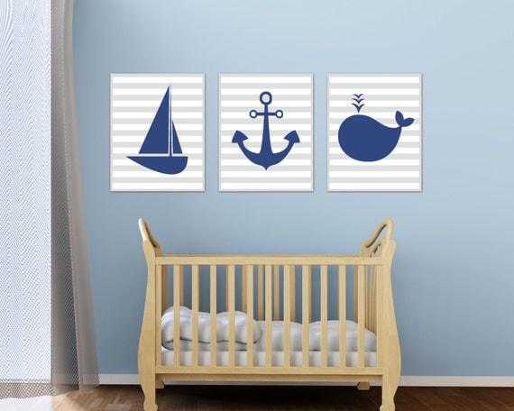 nautical nursery art print baby boy nautical wall art boys. Black Bedroom Furniture Sets. Home Design Ideas