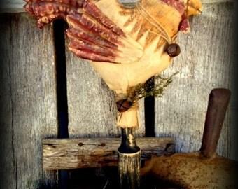 Primitive Folk Art-Farmhouse Rooster Make-Do Epattern-PDF-Instant Download