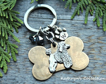 Poodle Key Chain, Standard Poodle, Miniature Poodle, Poodle Gift, Poodle mom, Poodle dad, Dog breed Key Chain