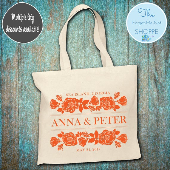 Flowers Wedding Canvas Tote Bags, Floral, Bachelorette Totes, Nautical Bachelorette, Wedding Favor Bags, Tropical, Married, Gifts, Favors