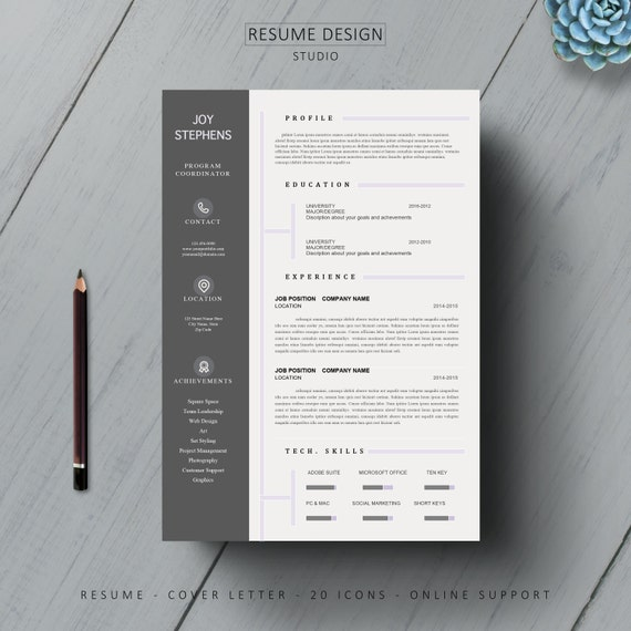 complete resume template  cover letter   by resumedesignstudio