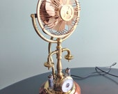 One of a kind Steampunk fan handmade from recycled materials