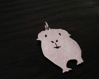 Guinea Pig ( Cavie) Sterling Silver Pendant