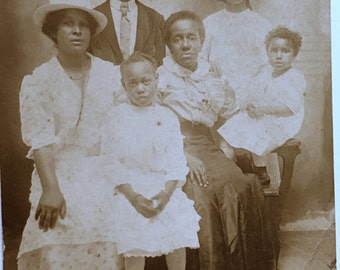 African American Generations- Antique Photograph RPPC