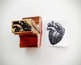 "Stamp - Anatomical Heart, 1.5""x1.25"""