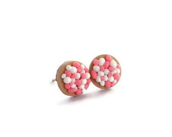 Beschuit met muisjes earstuds pink baby girl pregnant babyshower gift Dutch custom