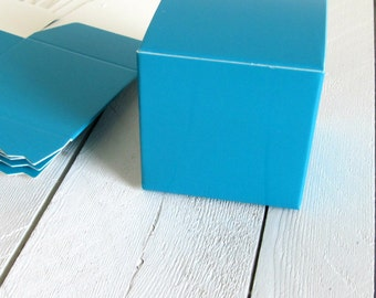 Set of 25 - Blue Favor Box 2 x 2 x 2 - favor box, blue favor boxes, blue gift boxes, blue party favors, party favor boxes, small gift boxes