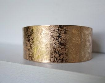 Bronze Cuff, Wide Bronze Cuff Bracelet, Bronze Anniversary Gift, Cuff Bracelet, Hammered Bronze Bracelet, Chunky Bronze Cuff