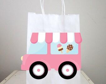 Ice Cream Party Bags, Ice Cream Truck Goody Bags