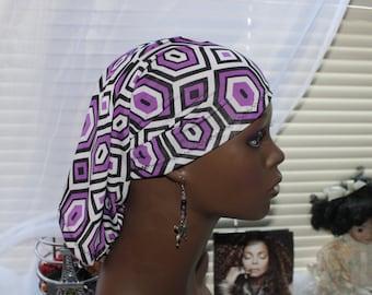 Purple Diamond LOCSOC/Hairsock/HAIRTUBE//Sleep Cap/Headband