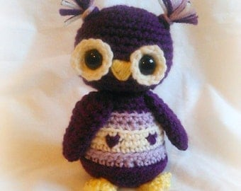 Sweet heart Owl; CROCHET PATTERN; PDF