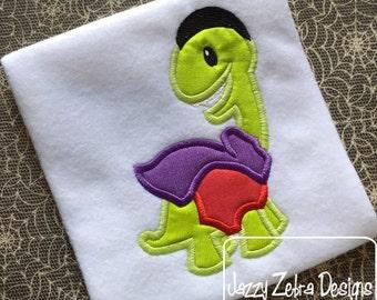Dinosaur Dracula Appliqué Embroidery Design - Dracula applique design - dinosaur applique design - Halloween appliqué design - dino applique