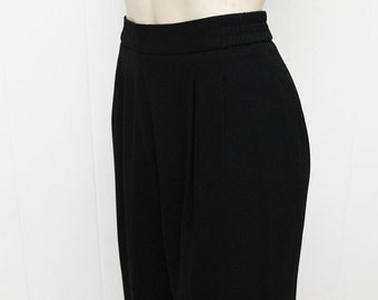 RESERVEDVintage pants,  Black Trousers, vintage black pants, Vintage High Waisted pants, Vintage womens Trousers, Size M