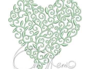 MACHINE EMBROIDERY FILE - Valentines Heart, Wedding heart, Wedding decor, Anniversary heart