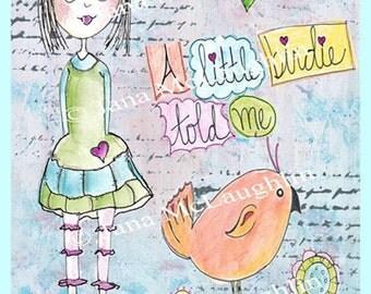 A Little Birdie Told Me-Printable Art-Digital Download