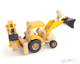 Wooden Toy Tractor, Child Toy, Tractor Natural Organic Toy