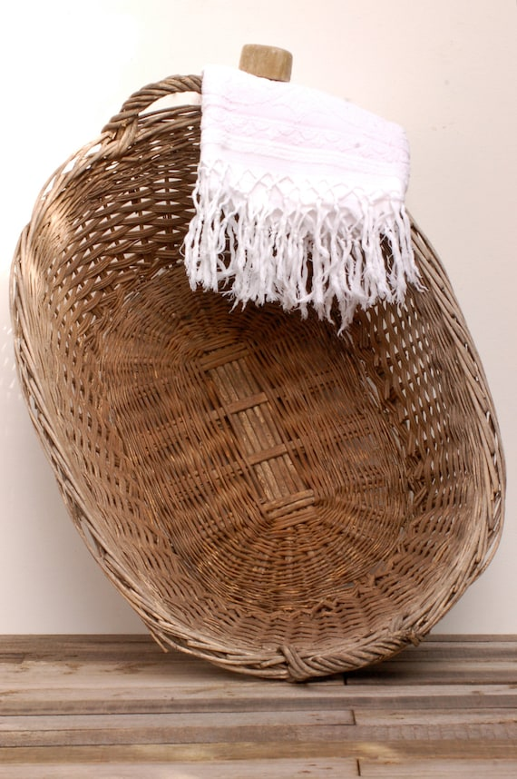 Blanchisseuse de panier en osier panier linge en osier - Panier a linge en osier naturel ...