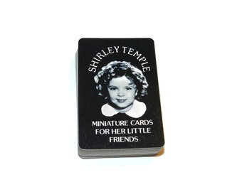 Shirley Temple Miniature Playing Cards, Standard Playing Cards, Mini Playing Cards,