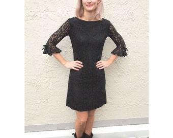 Vintage Black Lace dress size Small