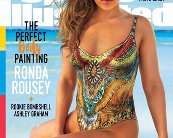 Giant 13x18 Print - Ronda Rousey 2016 SI Swimsuit Body Pain Cover Poster