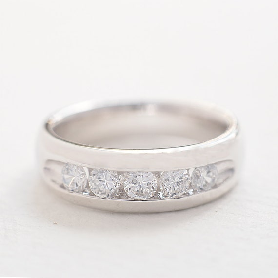 Simple Silver Wedding Rings For Women Simple Wedding Band fo...
