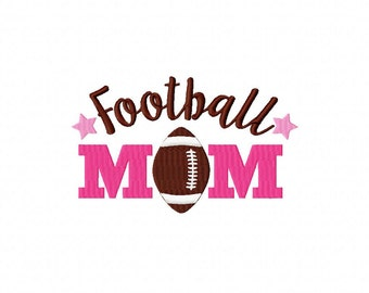 Football Mom Machine Embroidery Design Multiple Formats Available - Instant Download
