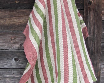 Pure Linen Towel; Rustic Linen Guest Towel; Striped Sand / Khaki / Old Pink Linen Towel; Burlap Linen Hand Towel; Rough Linen Massage Towel