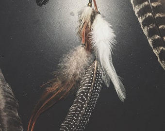 multi-feather chain hair clip - FREE US shipping!