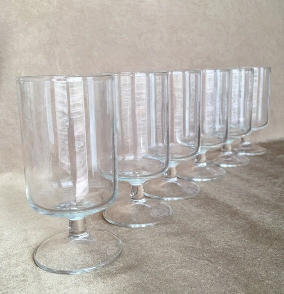 Pedestal juice glass luminarc cavalier short stem by dotnbettys - Short stemmed wine glass ...