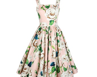 Flower dress, Pink dress, Simple sundress, Strap dress, Mod dress, Bridesmaid dress, Holiday dress, Casual dress, Party dress, Gift MS43