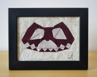Cheshire cat - Alice in Wonderland - Origami - Framed