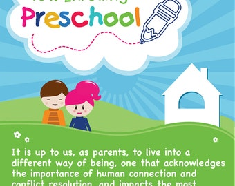 Preschool Enrollment Poster Design