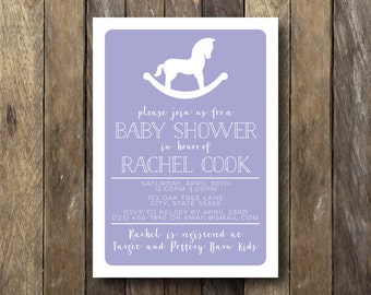 Rocking Horse Baby Shower Invitation - Printable Shower Invite - Rocking Horse Baby Shower - Printable Baby Shower Invite