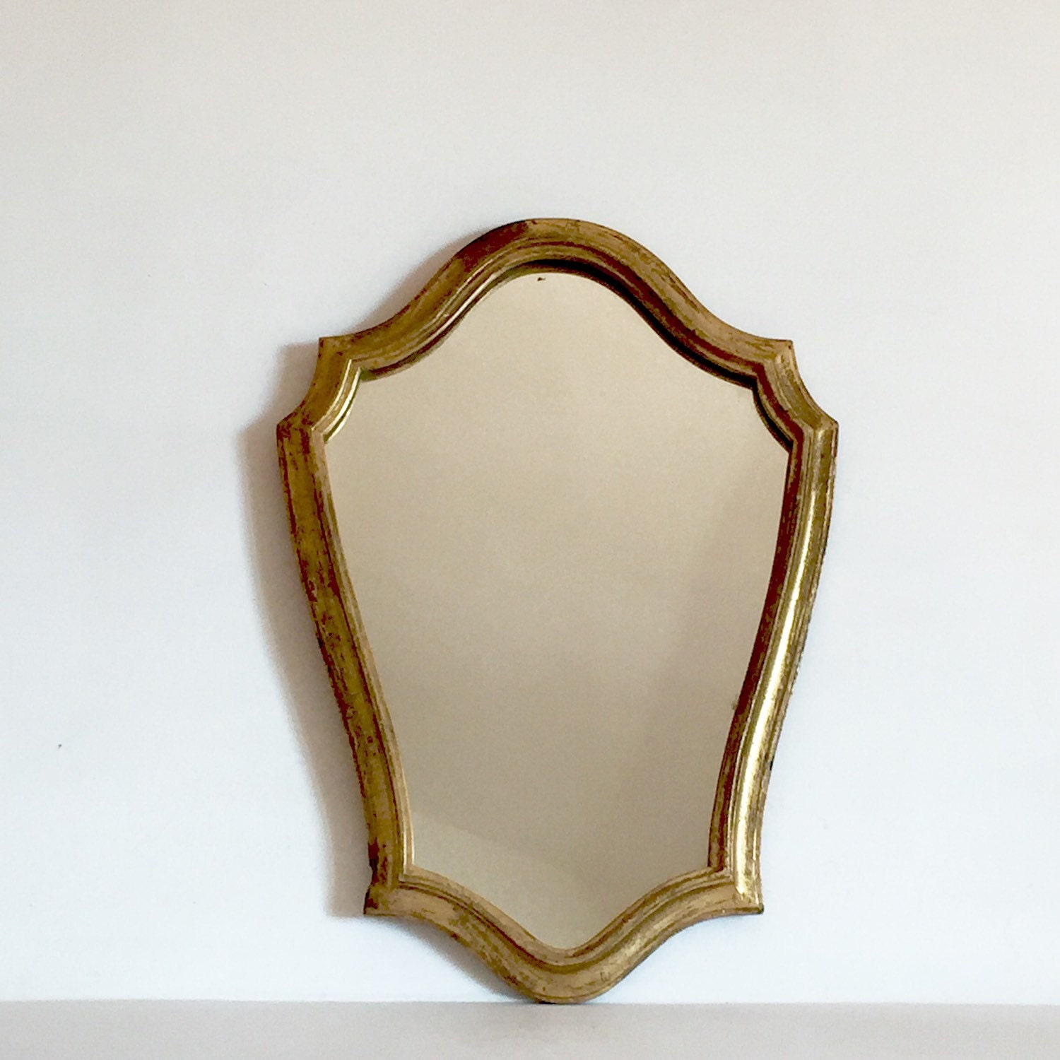 French antique small decorative gilt mirror small distressed for Small decorative mirrors