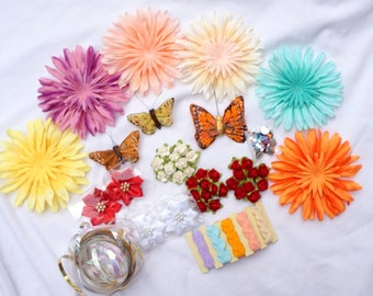 Lot of 20 + Hair Bow Accessories  FREE Shipping USA