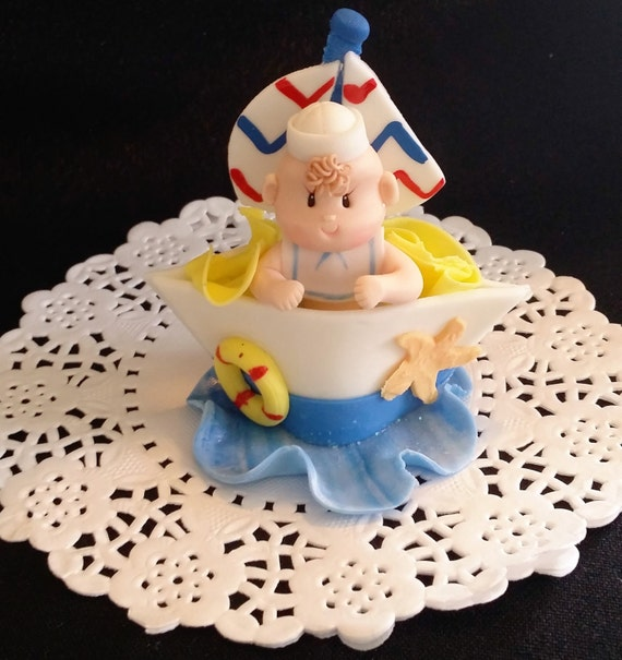 Twin Baby Shower Cake Toppers: Items Similar To Nautical Cake Topper, Twins Baby Shower