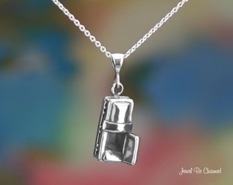 """Sterling Silver Coffin Necklace with 16-24"""" Chain or Pendant Only .925"""