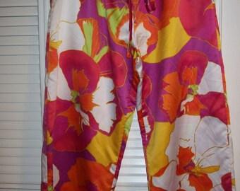Vintage Natori Lounge Pants Elastic Drawstring Waist Size large