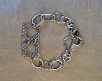 Fine Silver Square Bracelet