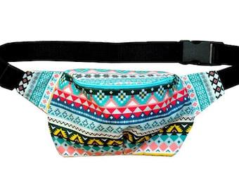 Aztec cotton fanny pack